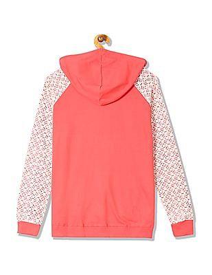 Cherokee Hooded Lace Panel Sweatshirt