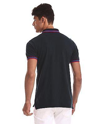 U.S. Polo Assn. Blue Cotton Pique Polo Shirt