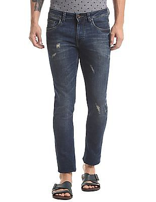 True Blue Vintage Tinted Wash Slim Jeans