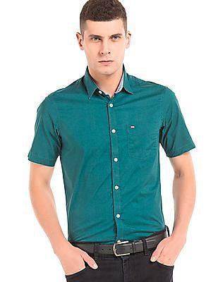 Arrow Sports Slim Fit Short Sleeve Shirt
