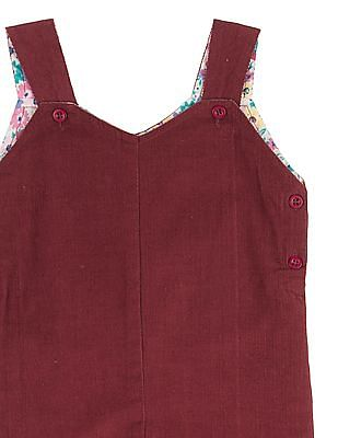 Donuts Girls Solid Corduroy Dungarees