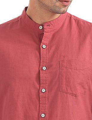 Flying Machine Slim Fit Solid Shirt