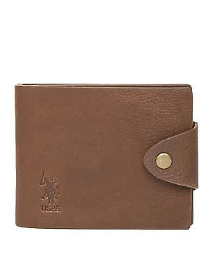 U.S. Polo Assn. Textured Leather Bi-Fold Wallet