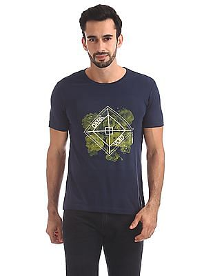 Flying Machine Slim Fit Printed T-Shirt