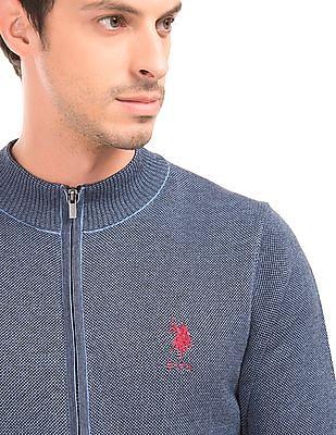 U.S. Polo Assn. Slim Fit Zip Up Sweater