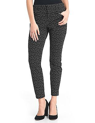 GAP Women Black Bi-Stretch Skinny Ankle Pants