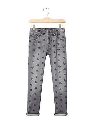 GAP Girls Grey 1969 Starry Girlfriend Jeans