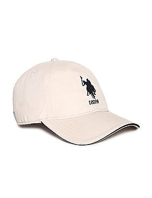 U.S. Polo Assn. Beige Embroidered Panelled Cap