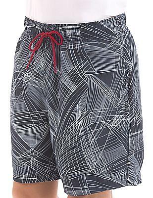 Nautica Drawstring Waist Abstract Print Shorts
