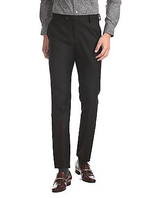 Arrow Tapered Fit Flat Front Trousers