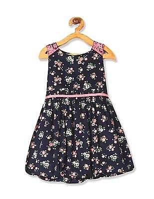 Cherokee Girls Elasticized Hem Printed Dress