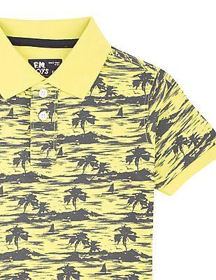 FM Boys Boys Slim Fit Printed Polo Shirt