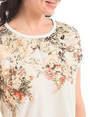 Elle Floral Print Knitted Top