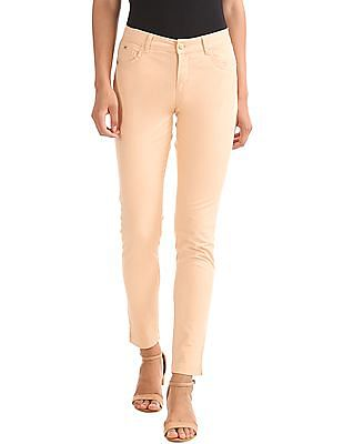 Elle Skinny Fit Solid Trousers