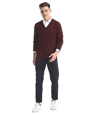 Gant Cotton Wool V-Neck Sweater