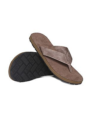 Aeropostale Solid Leather Sandals