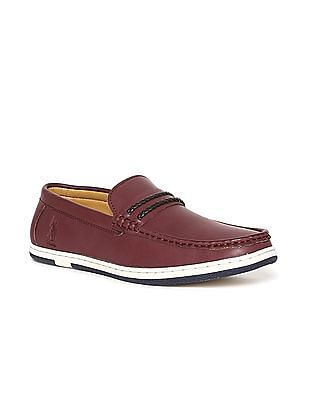 U.S. Polo Assn. Braided Vamp Strap Round Toe Loafers