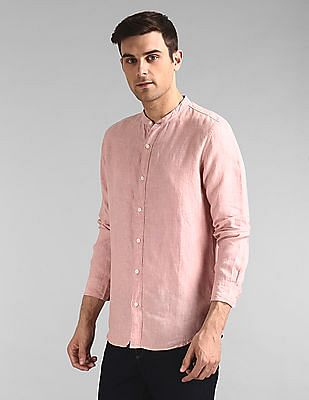 GAP Linen Band Collar Shirt