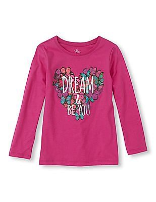 The Children's Place Girls Long Sleeve Graphic T-Shirt