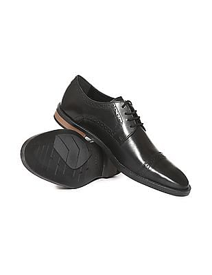 Arrow Cap Toe Leather Derby Shoes
