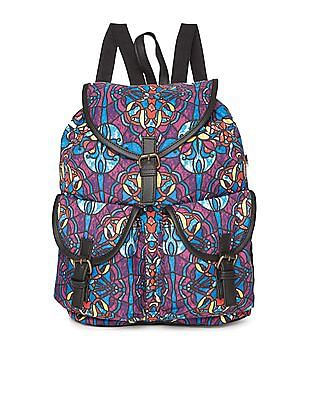 Bronz Printed Canvas Backpack