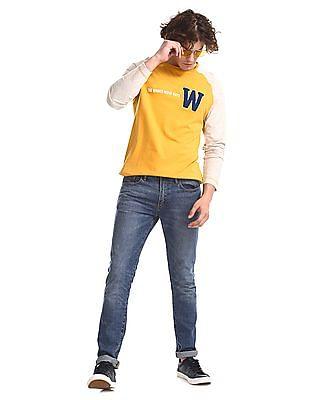 Colt Yellow Raglan Sleeve Colour Block T-Shirt