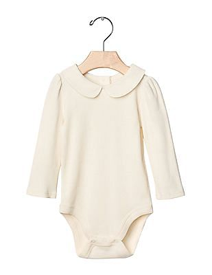 GAP Baby White Peter Pan Collar Bodysuit