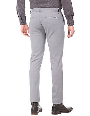 Flying Machine Solid Super Slim Fit Trousers