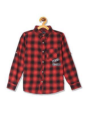 Cherokee Boys Long Sleeve Check Shirt