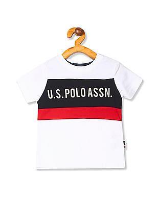 U.S. Polo Assn. Kids Boys Stripe Chest T-Shirt