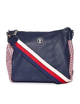 U.S. Polo Assn. Women Contrast Weave Sling Bag