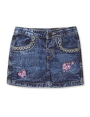 Donuts Girls Washed Denim Skirt