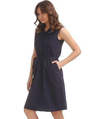 Cherokee Belted Shirt Dress