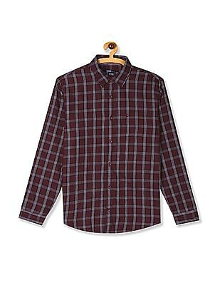 Roots by Ruggers Red Slim Fit Check Shirt