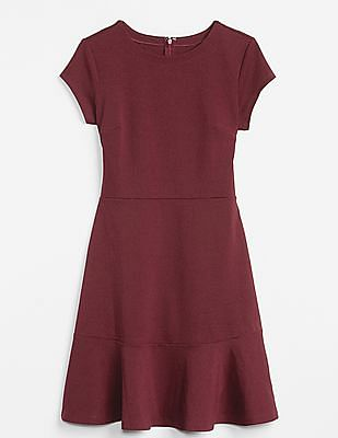 GAP Fit and Flare Peplum Dress in Ponte