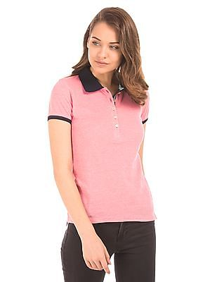 Aeropostale Heathered Pique Polo Shirt