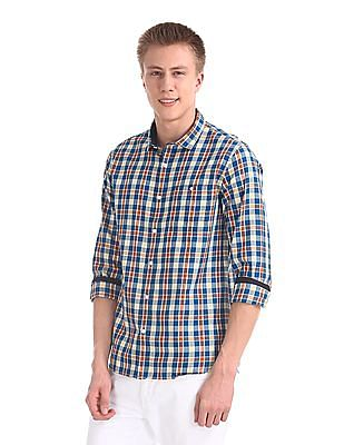 Roots by Ruggers Contemporary Regular Fit Cutaway Collar Shirt