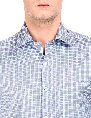 Arrow French Placket Check Shirt