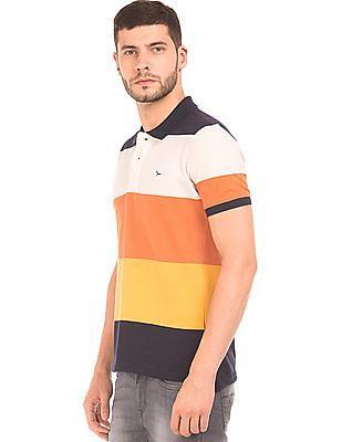 Flying Machine Striped Regular Fit Polo Shirt