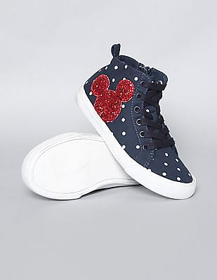 GAP Girls Disney Mickey Mouse And Dots Embellished Sneakers
