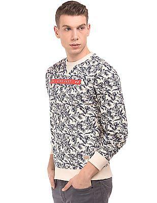 Flying Machine Crew Neck Printed Sweatshirt