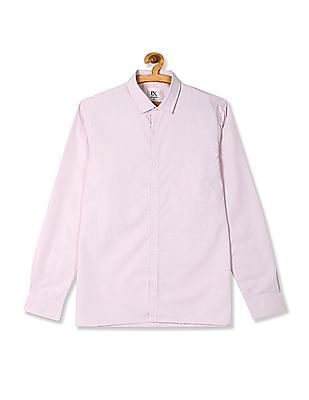 Excalibur Pink Mitered Cuff Check Shirt