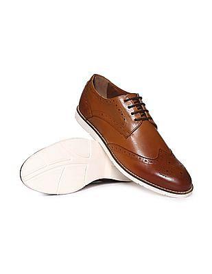 Arrow Contrast Sole Derby Shoes