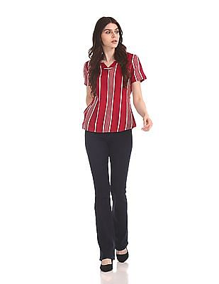 U.S. Polo Assn. Women Vertical Stripe Viscose Top