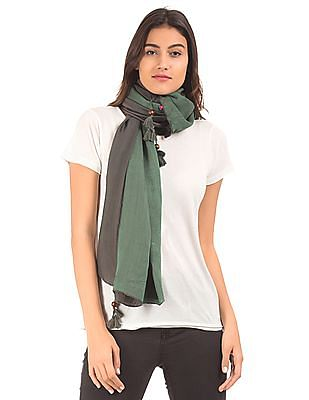 SUGR Two Tone Tasselled Stole
