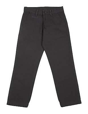FM Boys Boys Slim Fit Flat Front Trousers