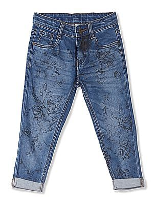 Cherokee Girls Printed Cropped Jeans