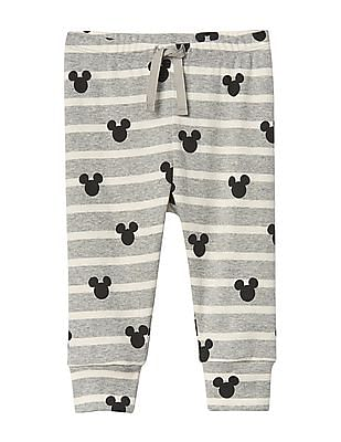GAP Baby Grey Disney Mickey Mouse And Stripes Pants