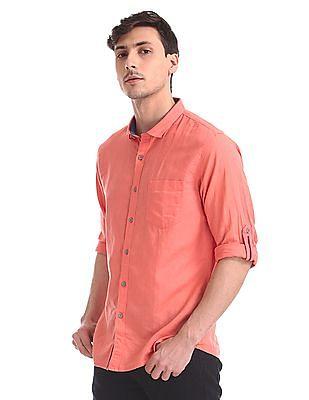 Cherokee Regular Fit Cotton Linen Shirt
