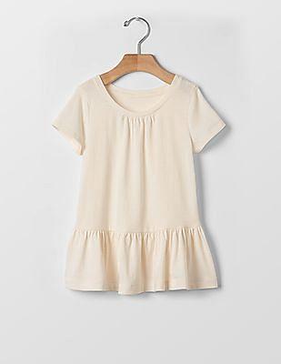 GAP Toddler Girl Solid Peplum Tunic